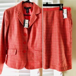 Lady's tweed skirt suit.